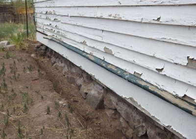 Section of foundation to have new mortar